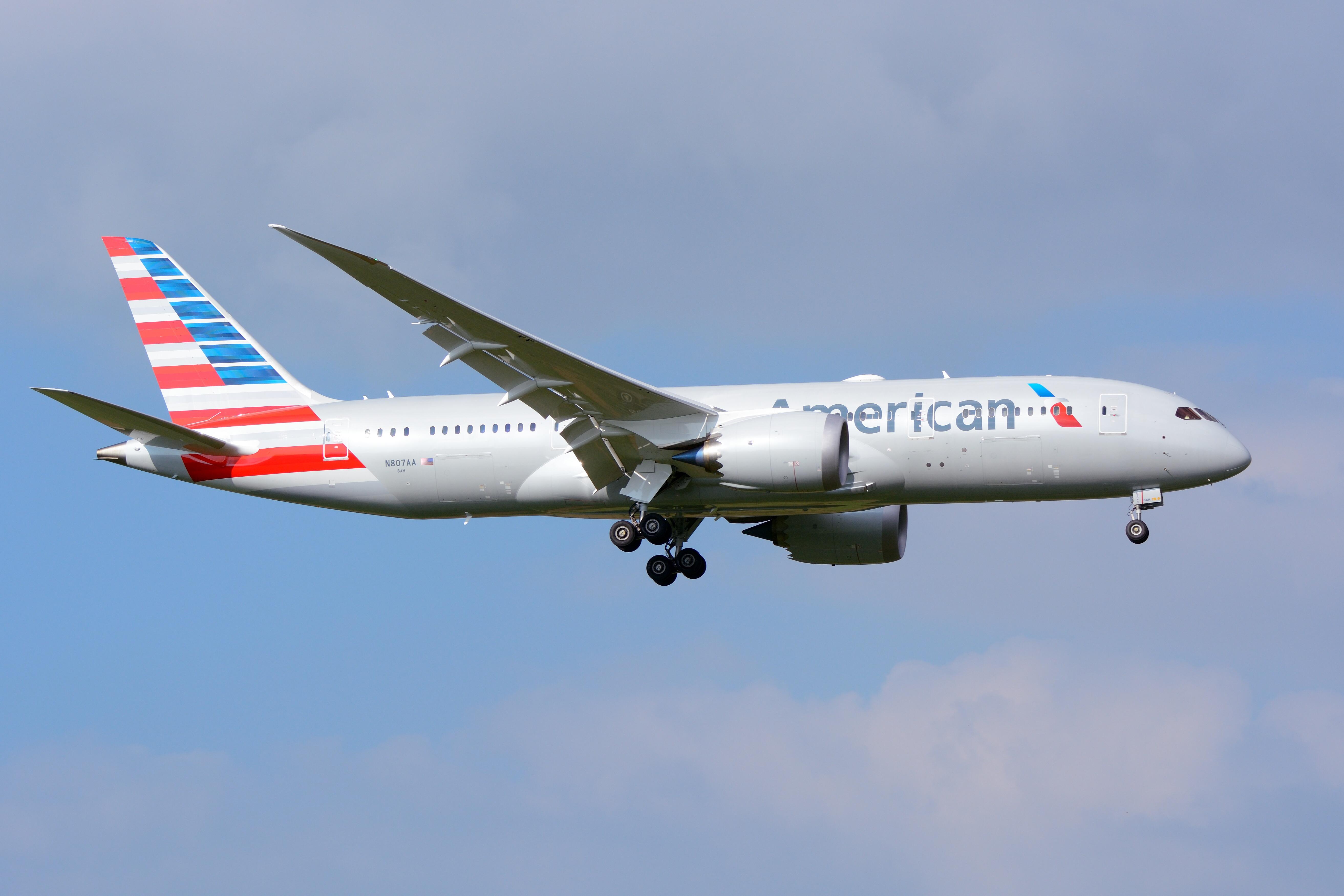 En Boeing 787-8 Dreamliner fra American Airlines. Foto: Masakatsu Ukon