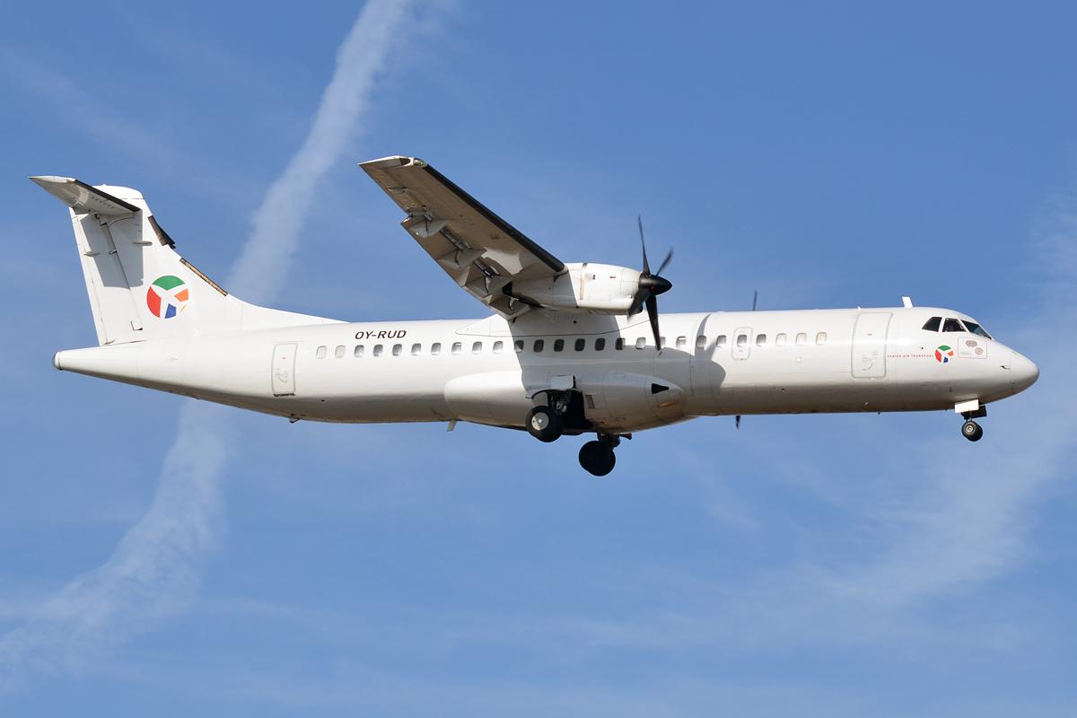 ATR72-flyet med registrering OY-RUD fra Danish Air Transport (DAT) står til at blive skrottet om få uger. Foto: Anna Zvereva