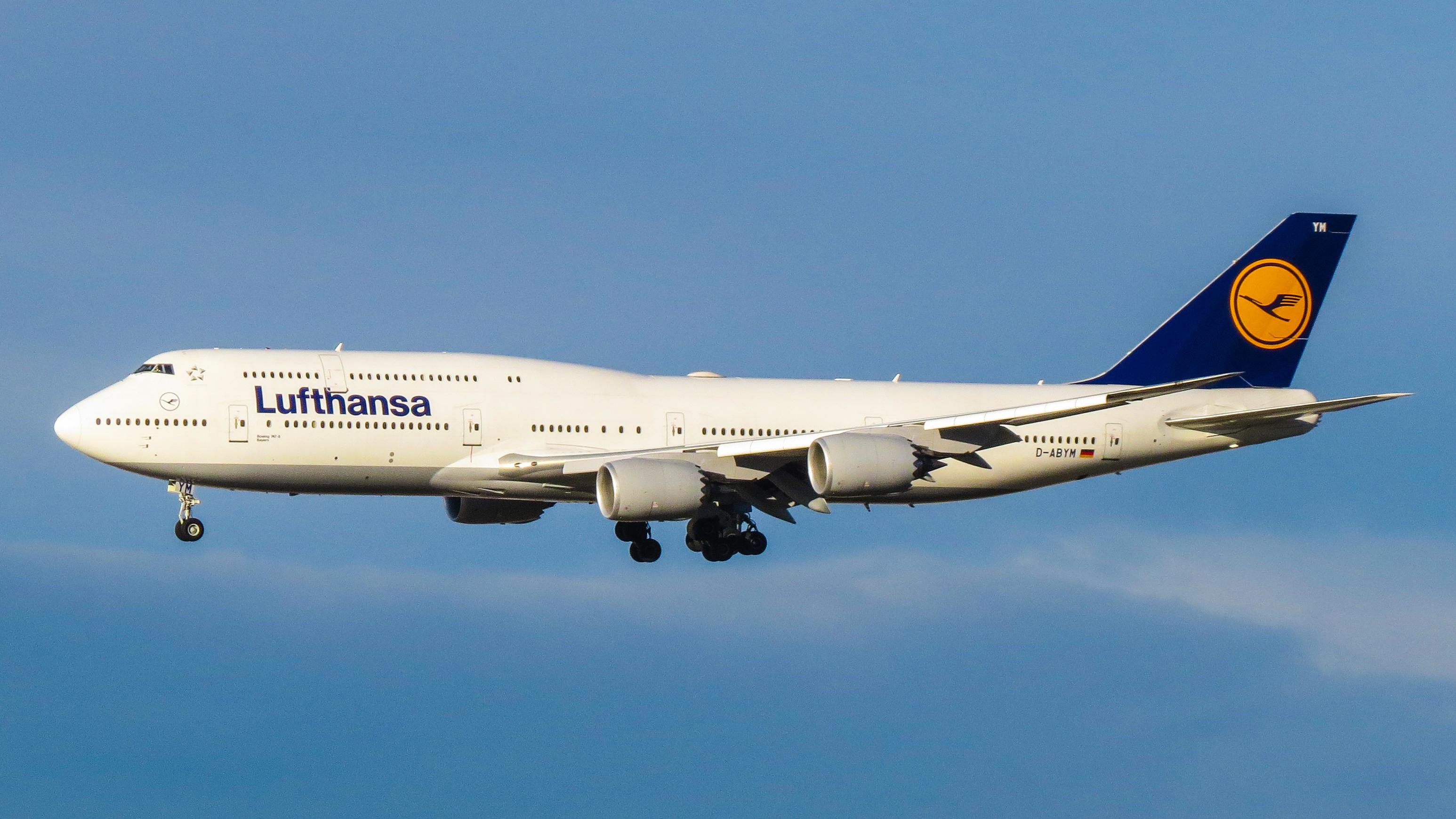 En Boeing 747-8 fra det tyske flyselskab Lufthansa. Foto: Kiefer