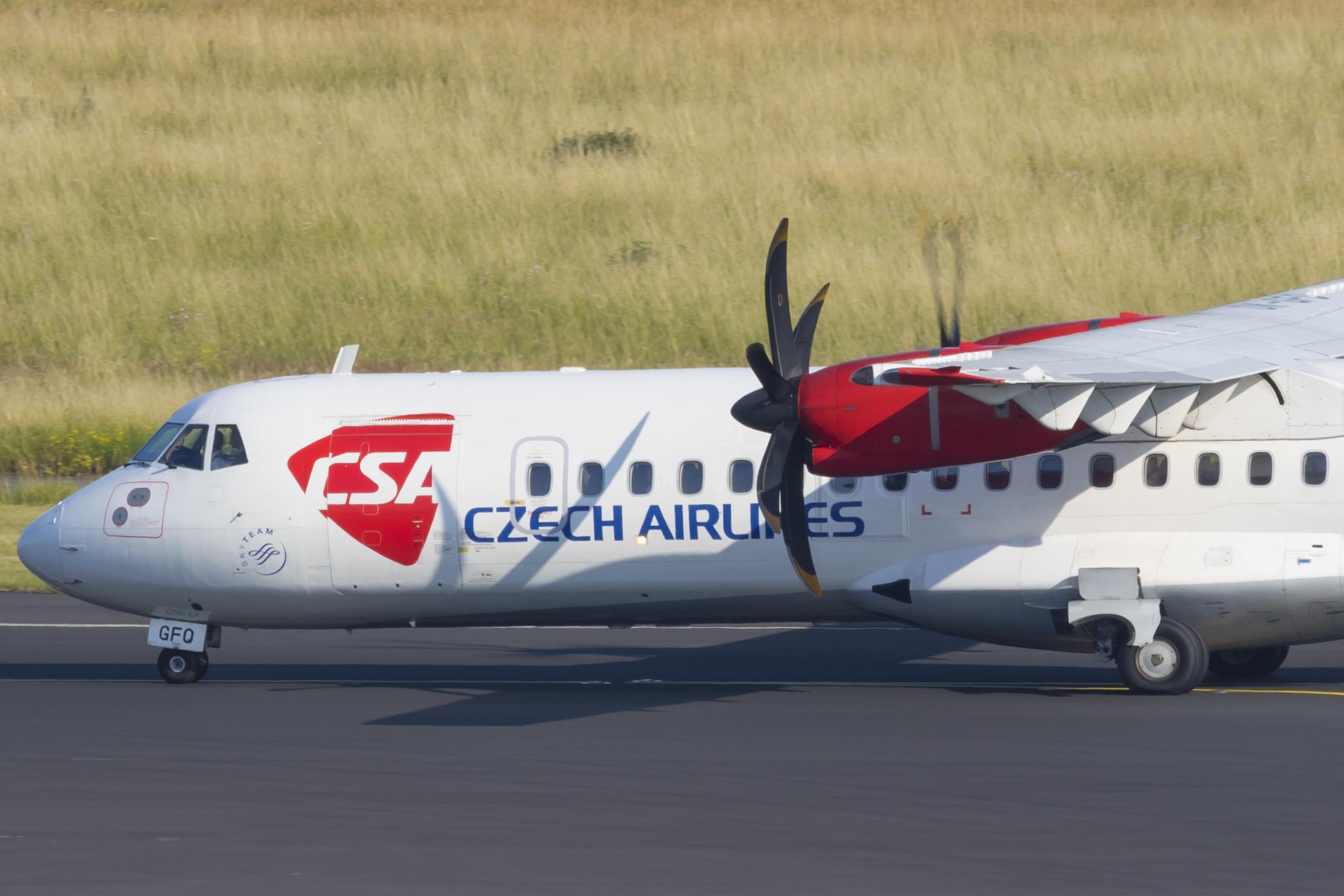 ATR72 fra Czech Airlines (Foto: © Thorbjørn Brunander Sund, Danish Aviation Photo)