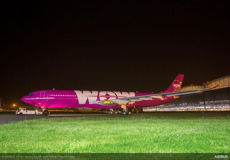 Første Airbus A330-900neo til WOW air. (Foto: Airbus | JB ACCARIEZ | master films)