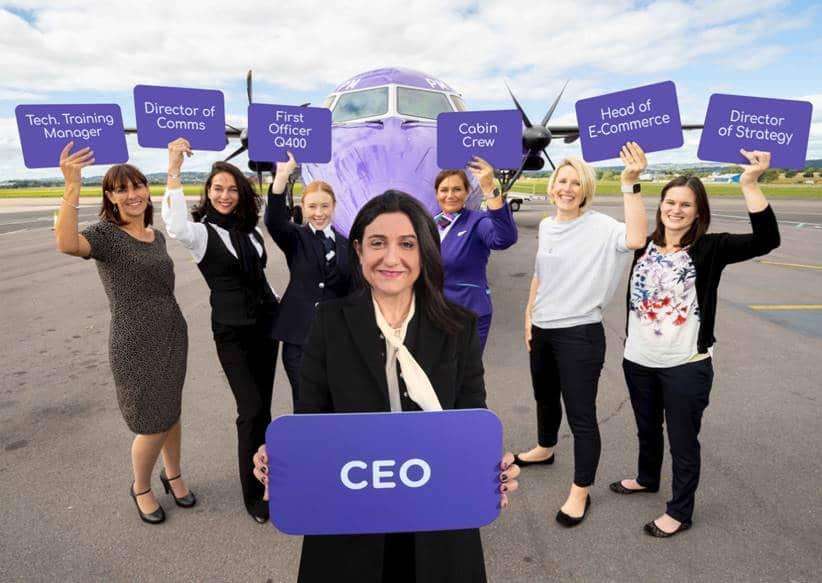 Christine Ourmières-Widener er koncernchef i Flybe og står i spidsen for det nye FlyShe-initiativ, der skal lokke flere kvinder til job i luftfartsbranchen. Foto: Flybe