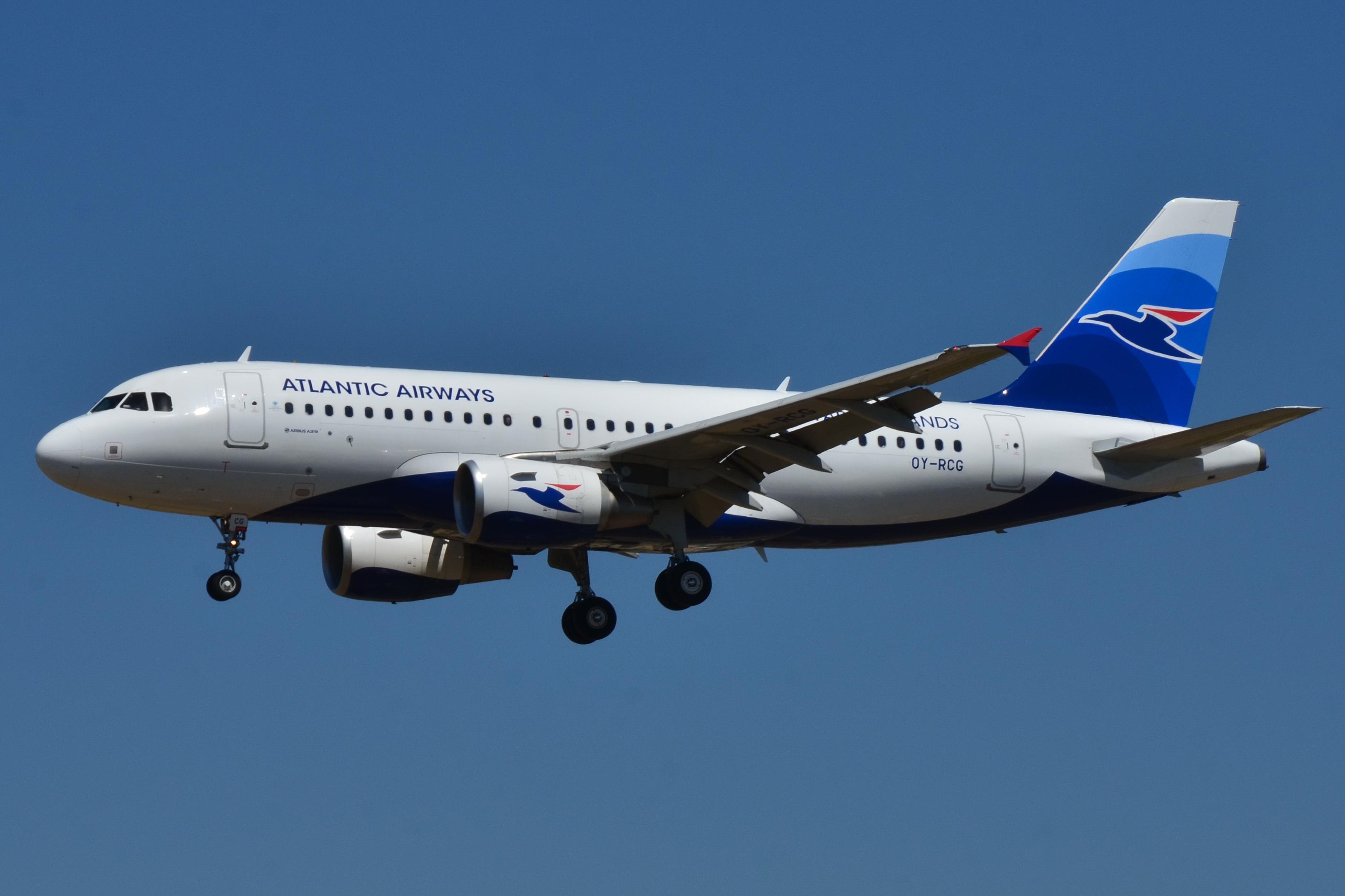 En Airbus A319-100 fra Atlantic Airways. Foto: Laurent Errera