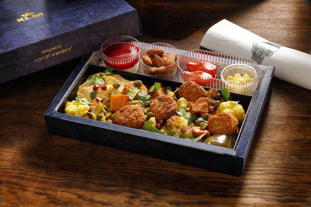 Eksempel på de nye måltider på KLM Cityhopper. (Foto: KLM)