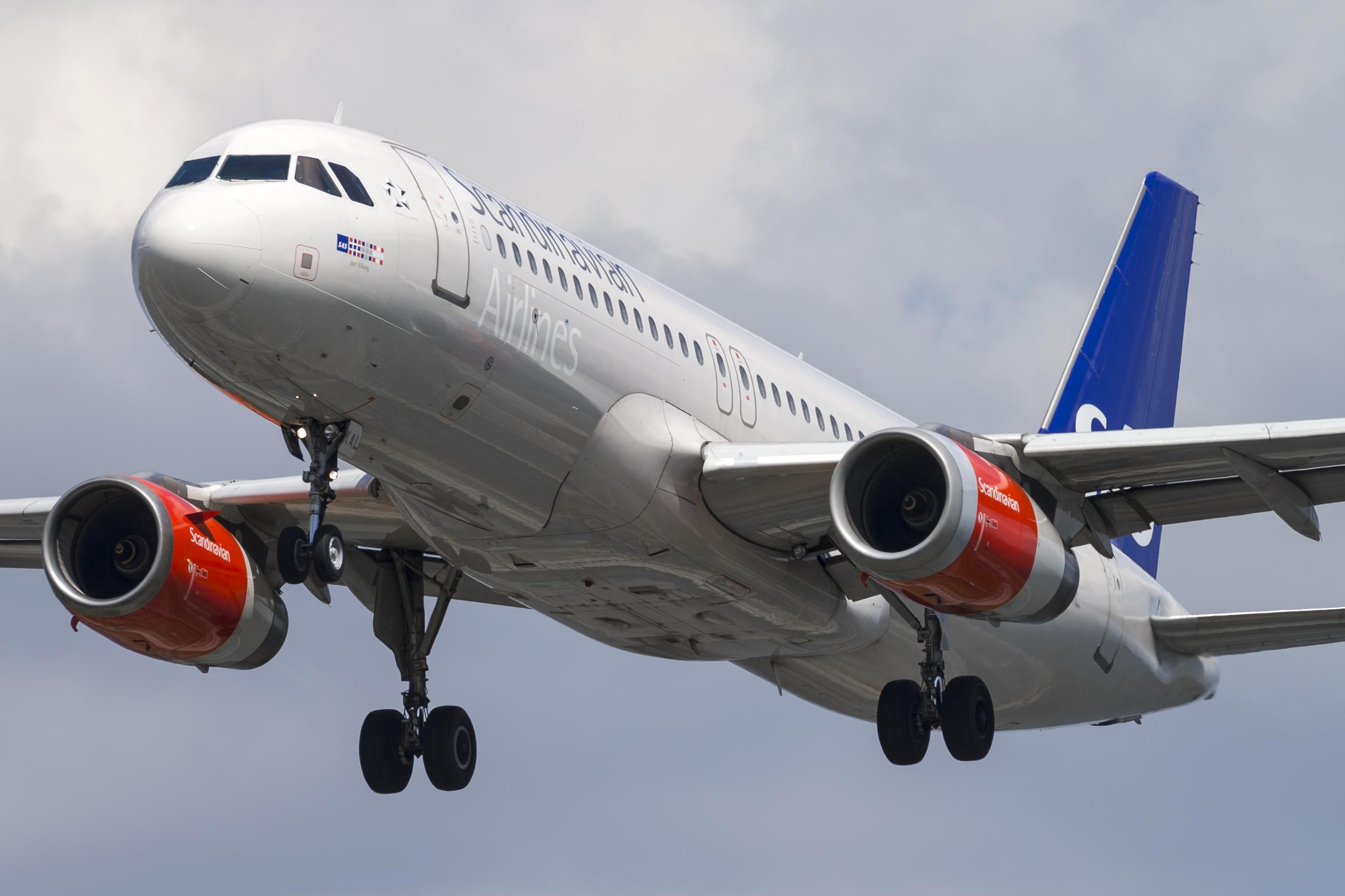 Airbus A320-200 fra SAS. (Foto: © Thorbjørn Brunander Sund, Danish Aviation Photo)