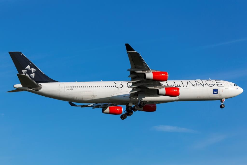 Airbus A340-300 fra SAS i Star Alliance-bemaling (Foto: © Thorbjørn Brunander Sund | Danish Aviation Photo)