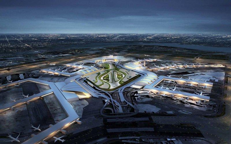 Et skitse over New York-JFK-lufthavnen efter den store modernisering. Foto: New Yorks guvernør-kontor