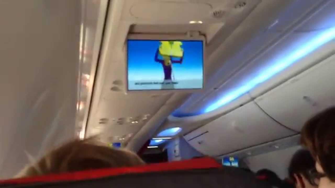 Informationsskærm i Boeing 737 MAX-8.