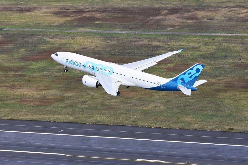 A330-800 i luften fra Toulouse Blagnac (Foto: Airbus/PR)