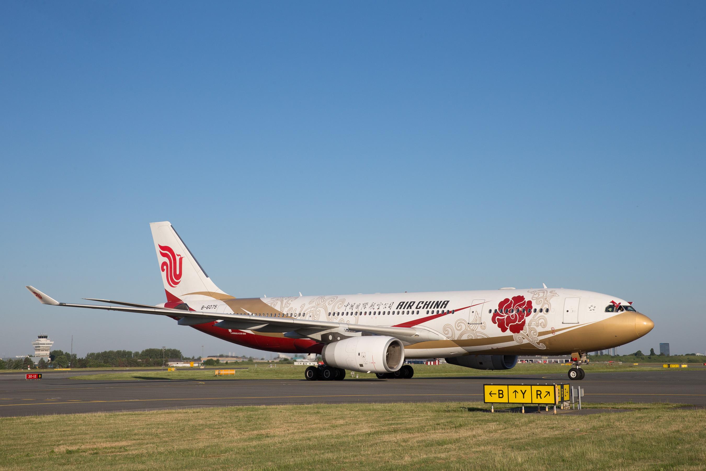 Airbus A330-200 fra Air China i København Lufthavn. (Foto: CPH)