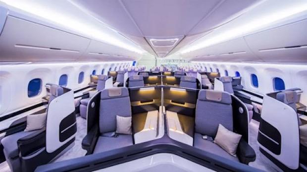 Sådan præsenterer CRAIC business-klasse kabinen i det nye fly. (Foto: COMAC America)