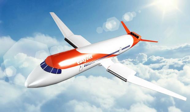 Sådan vil det kommende elektriske easyJet-fly måske se ud.