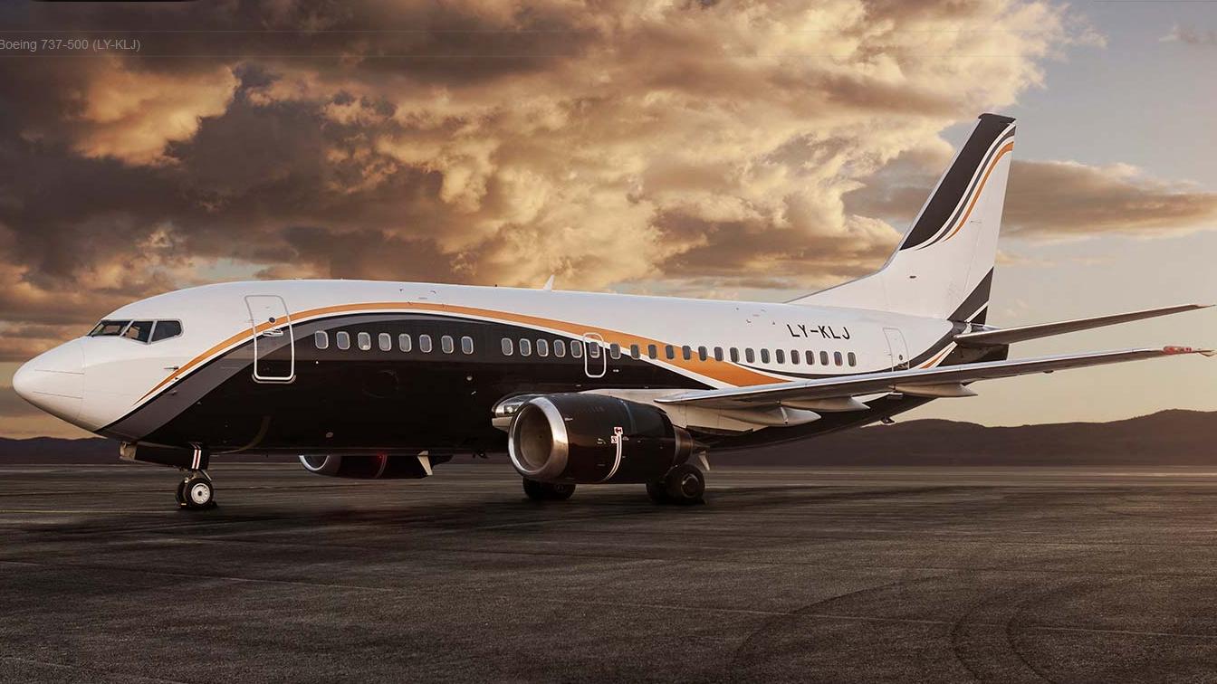 Boeing 737-500 fra KlasJet i VIP-udgave. (Foto: KlasJet/PR)