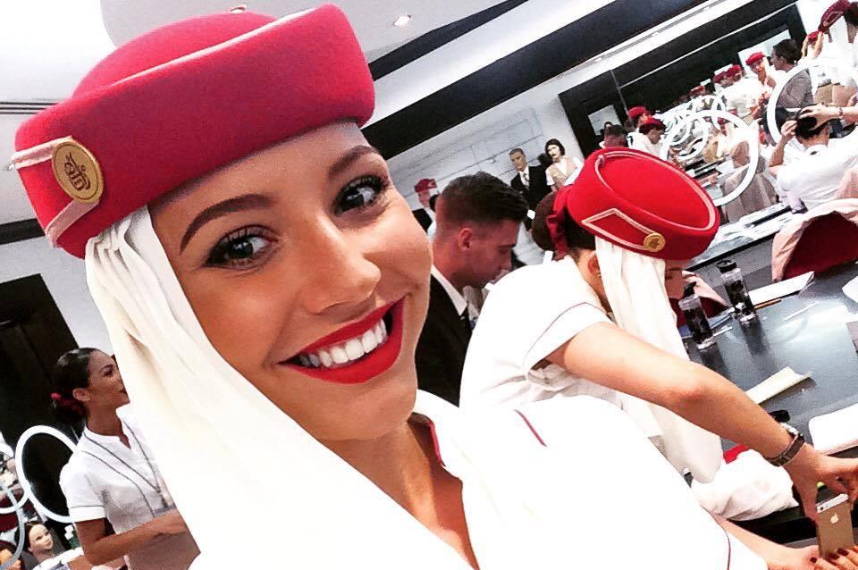 Lissa Juul Paustian, cabin crew hos Emirates (Privatfoto)