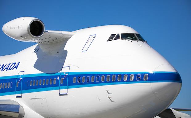 Pratt & Whitney Canadas Boeing 747SP-fly med en motor til Falcon 6X i test.