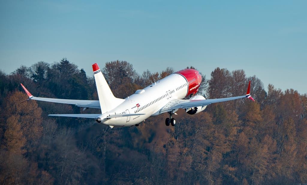 SE-RTA ved starten fra Boeing Field (Foto: Norwegian | Atle Straume)