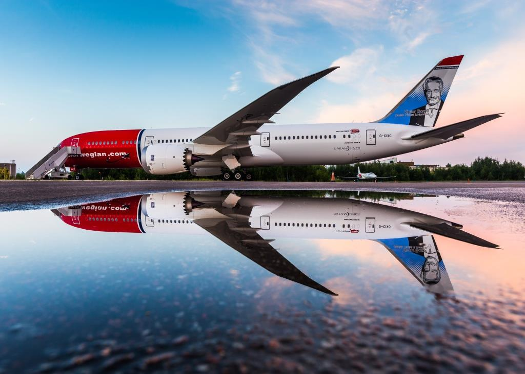 Boeing 787-9 fra Norwegian (Foto: Norwegian/PR/David Peacock)