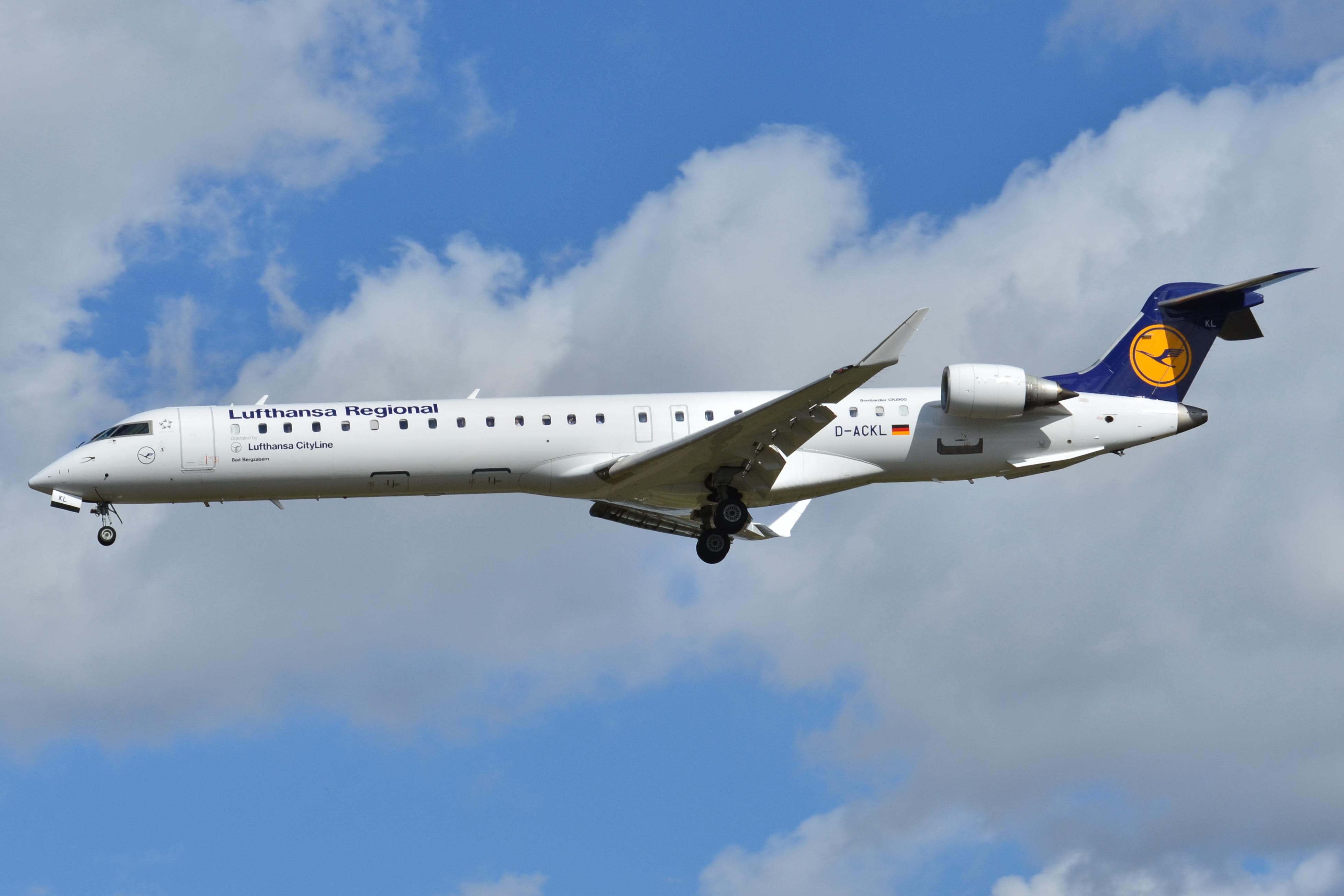 Bombardier CRJ900 fra Lufthansa City Line (Foto: Laurent ERRERA   CC 2.0)