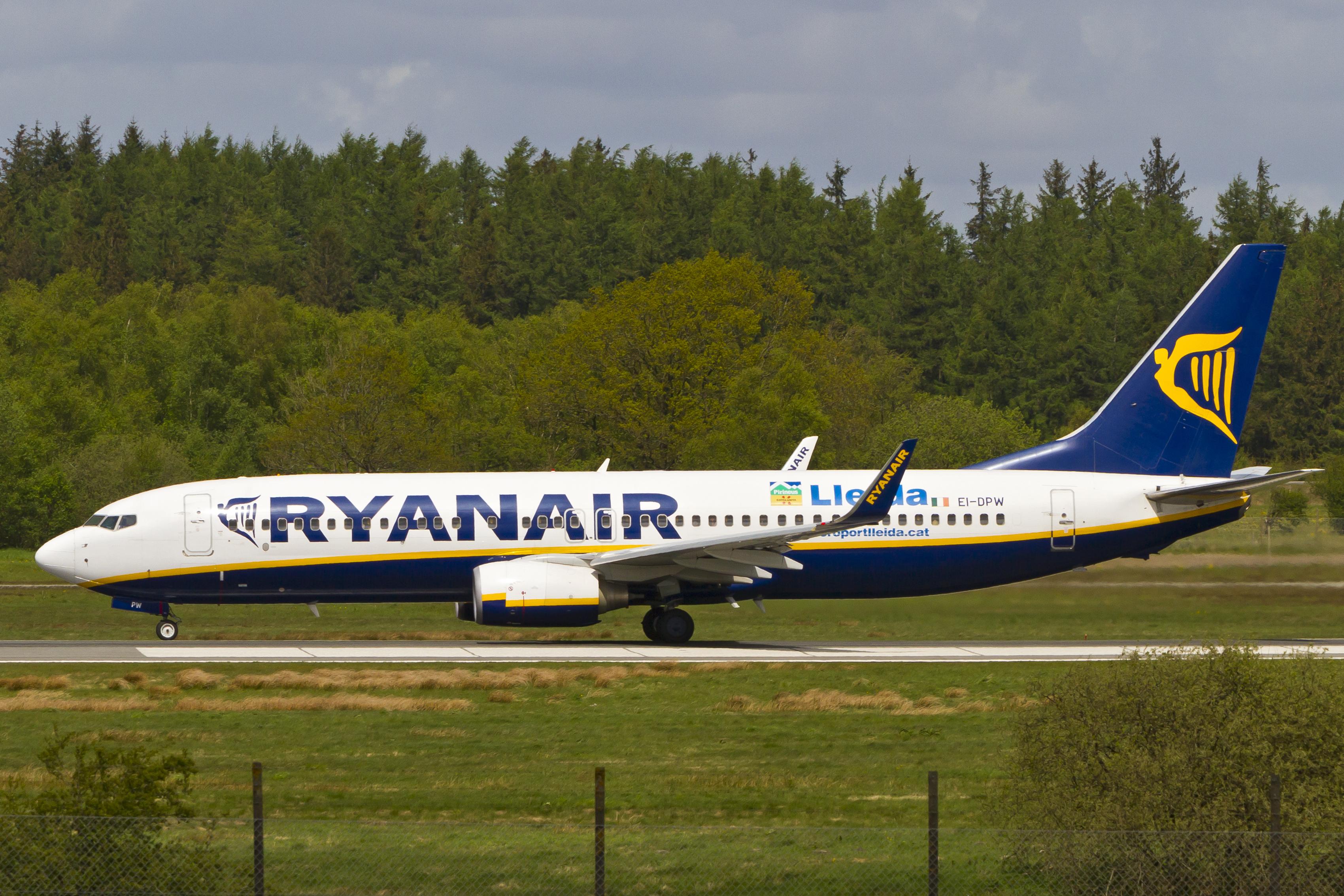 En Boeing 737-800 fra Ryanair – ikke den nyeste. Foto: © Thorbjørn Brunander Sund, Danish Aviation Photo