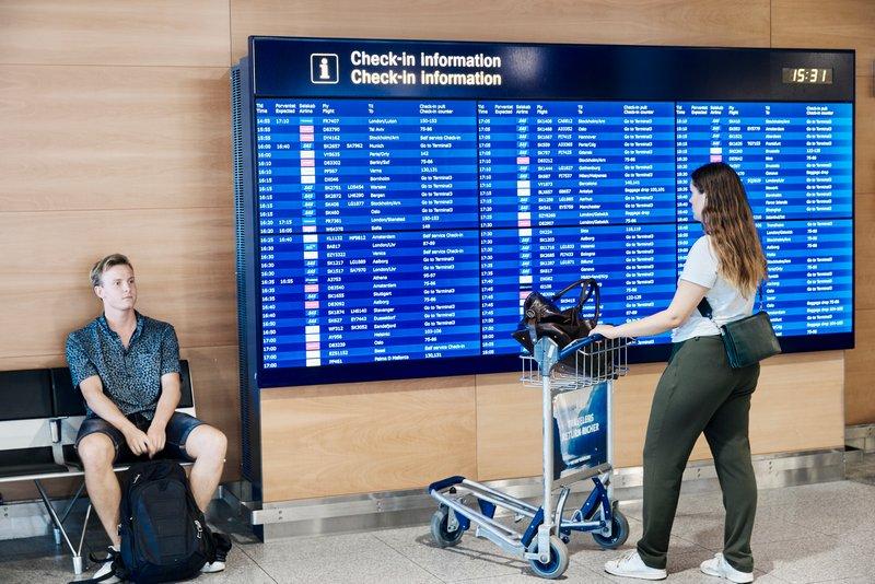 Passagerer i Københavns Lufthavn (Foto: Jasper Carlberg)