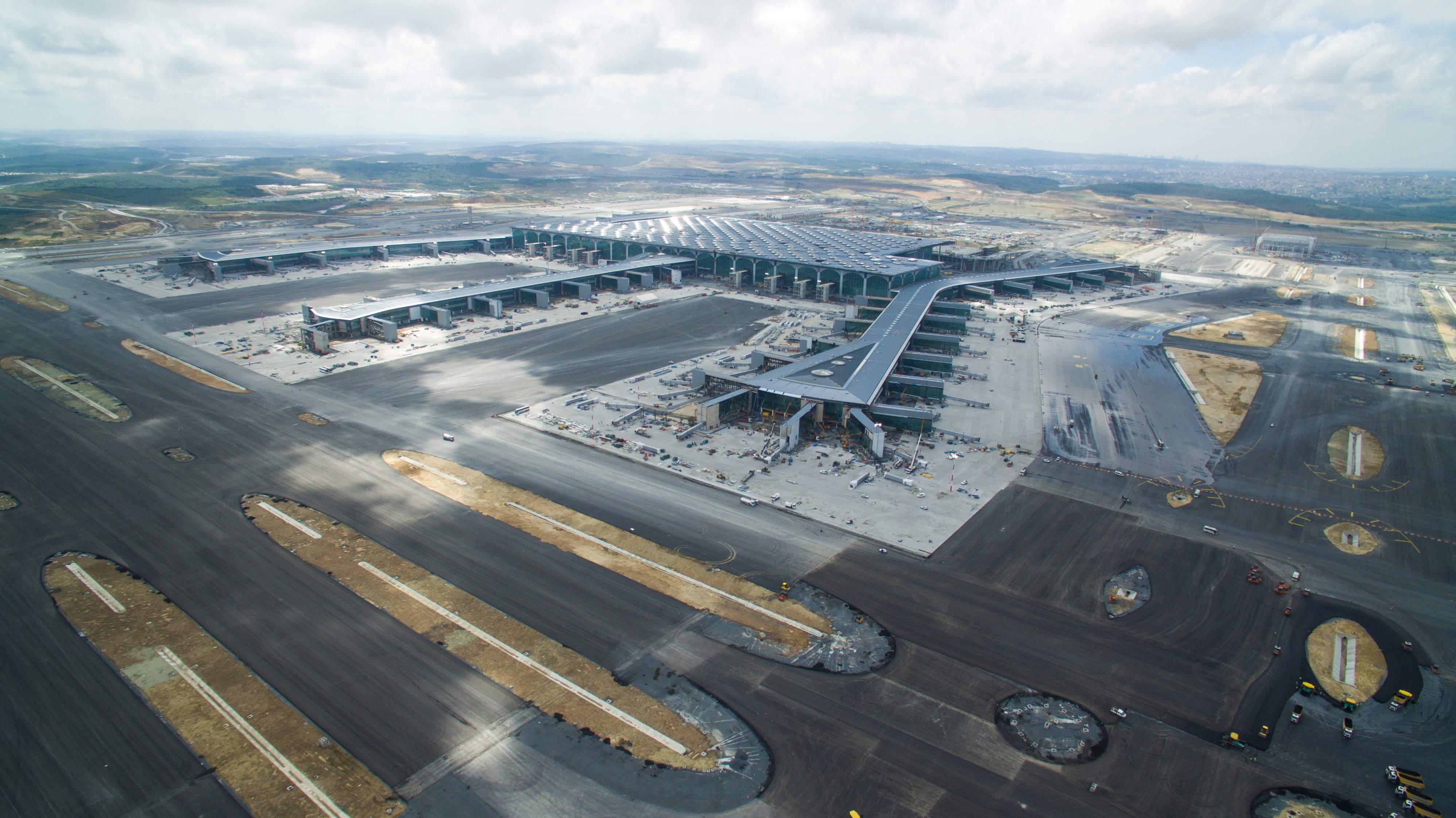Skitse af Istanbul New Airport. Foto: Istanbul Airport, iGA
