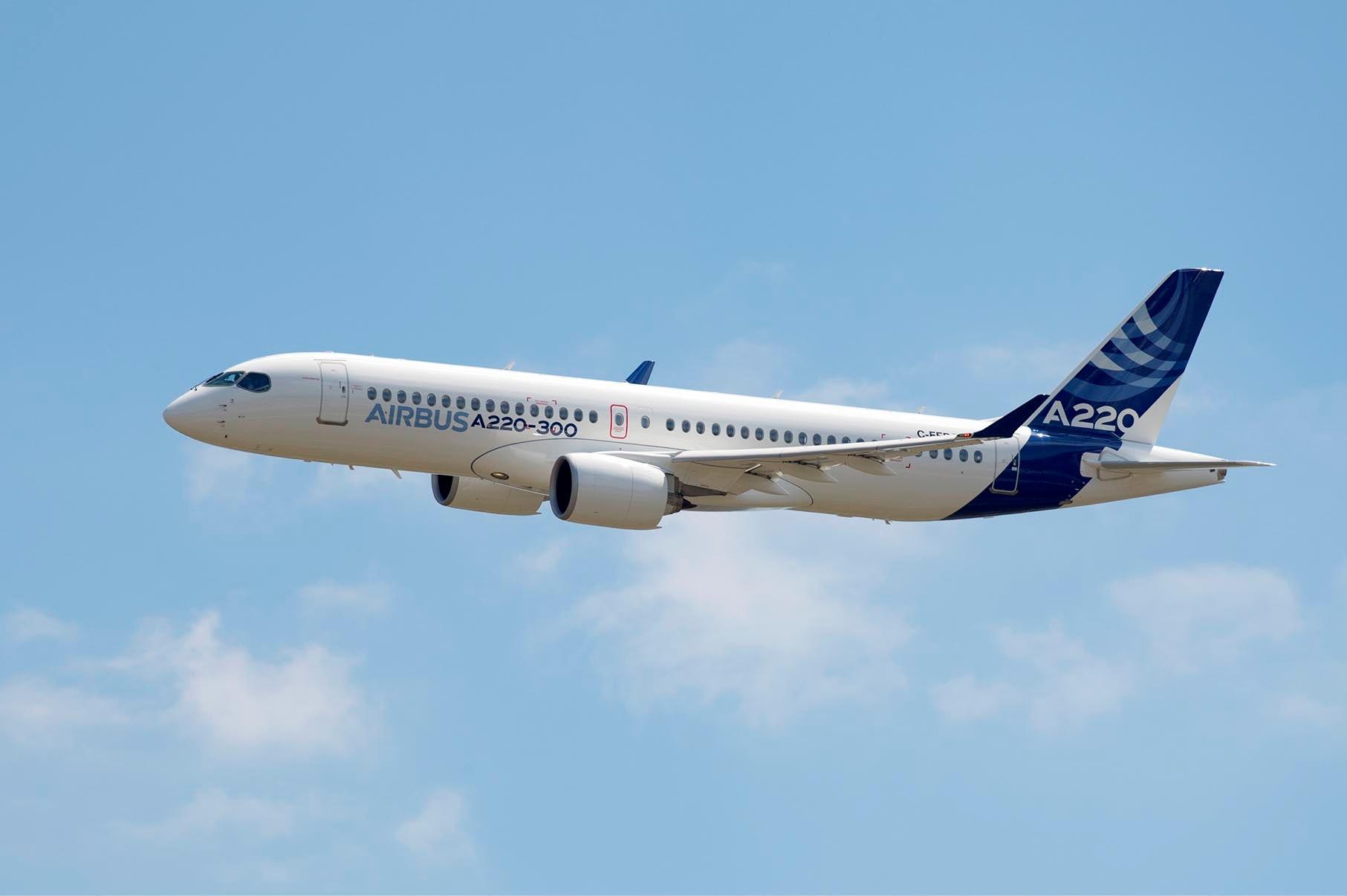 Airbus A220-300. (Foto: F. LANCELOT   master films)