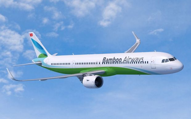 Airbus A321neo i Bamboo Airways-bemaling. Illustration: Airbus