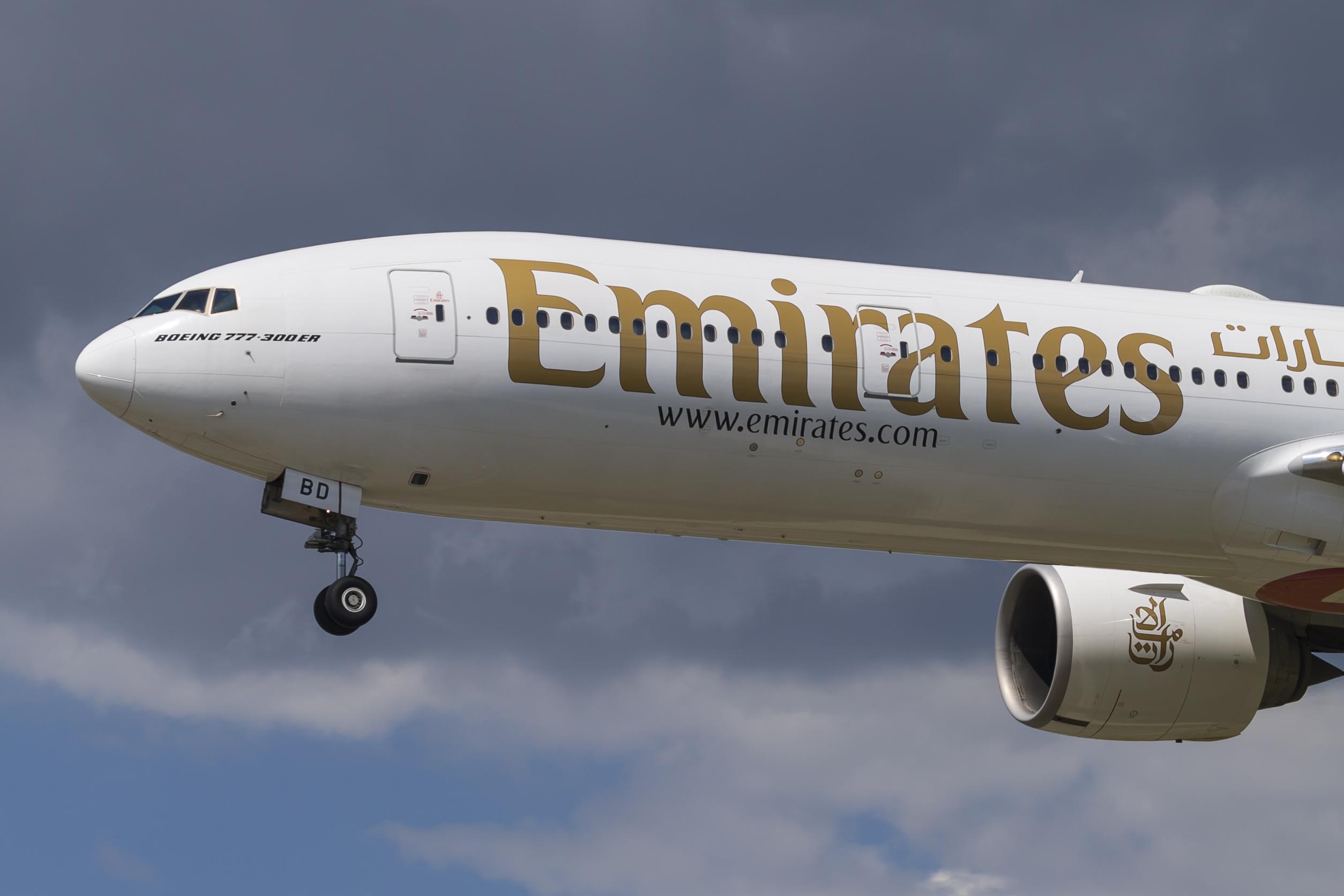 En Boeing 777-300 fra Emirates. Foto: © Thorbjørn Brunander Sund, Danish Aviation Photo