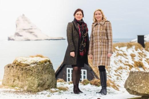 Adm. direktør Jóhanna á Bergi, Atlantic Airways (t.v.) og landechef Anita Wagner Feddersen fra Air France-KLM i Danmark. (Foto: KLM/PR)