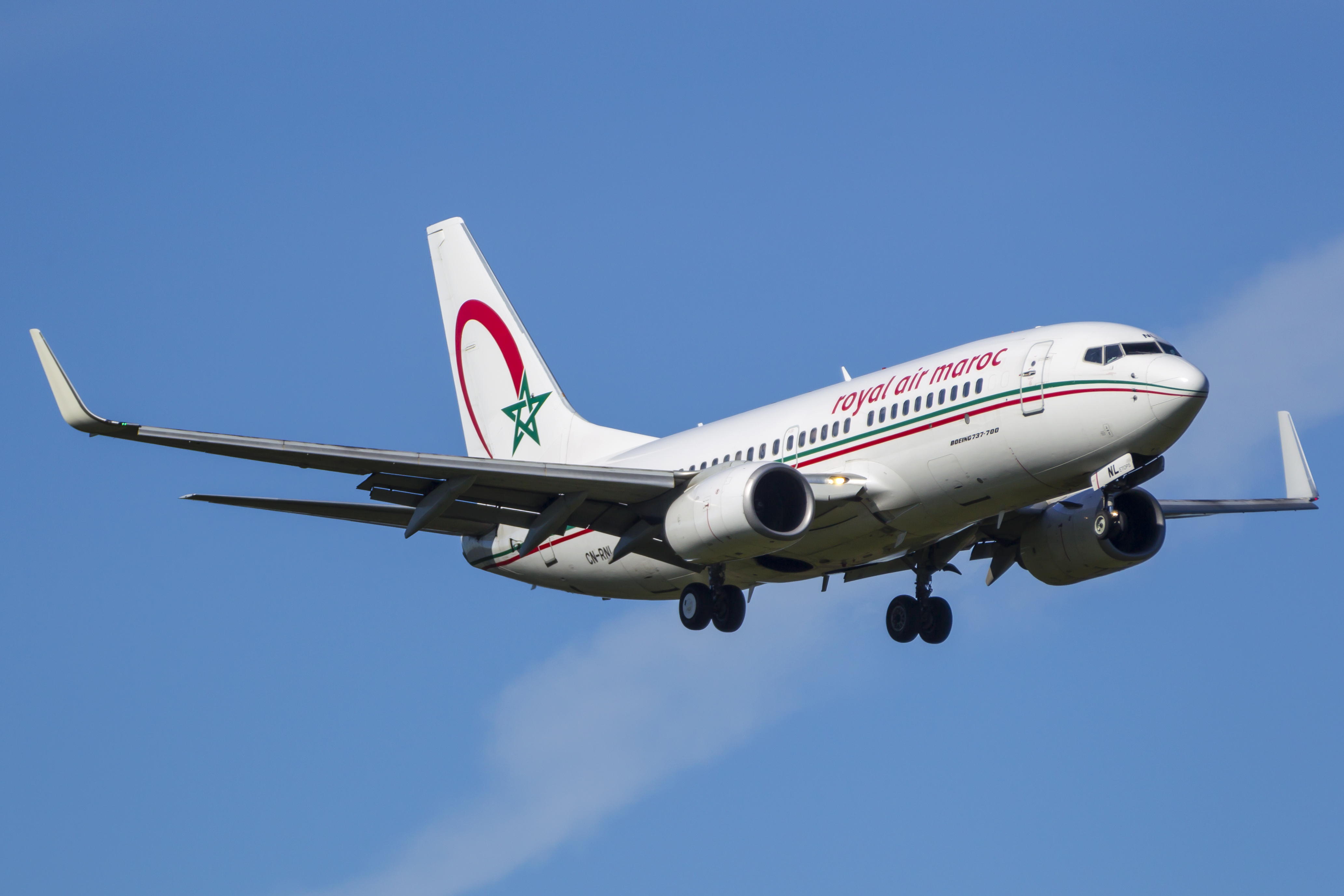 En Boeing 737-700 fra det marokkanske flyselskab Royal Air Maroc. Foto: © Thorbjørn Brunander Sund, Danish Aviation Photo