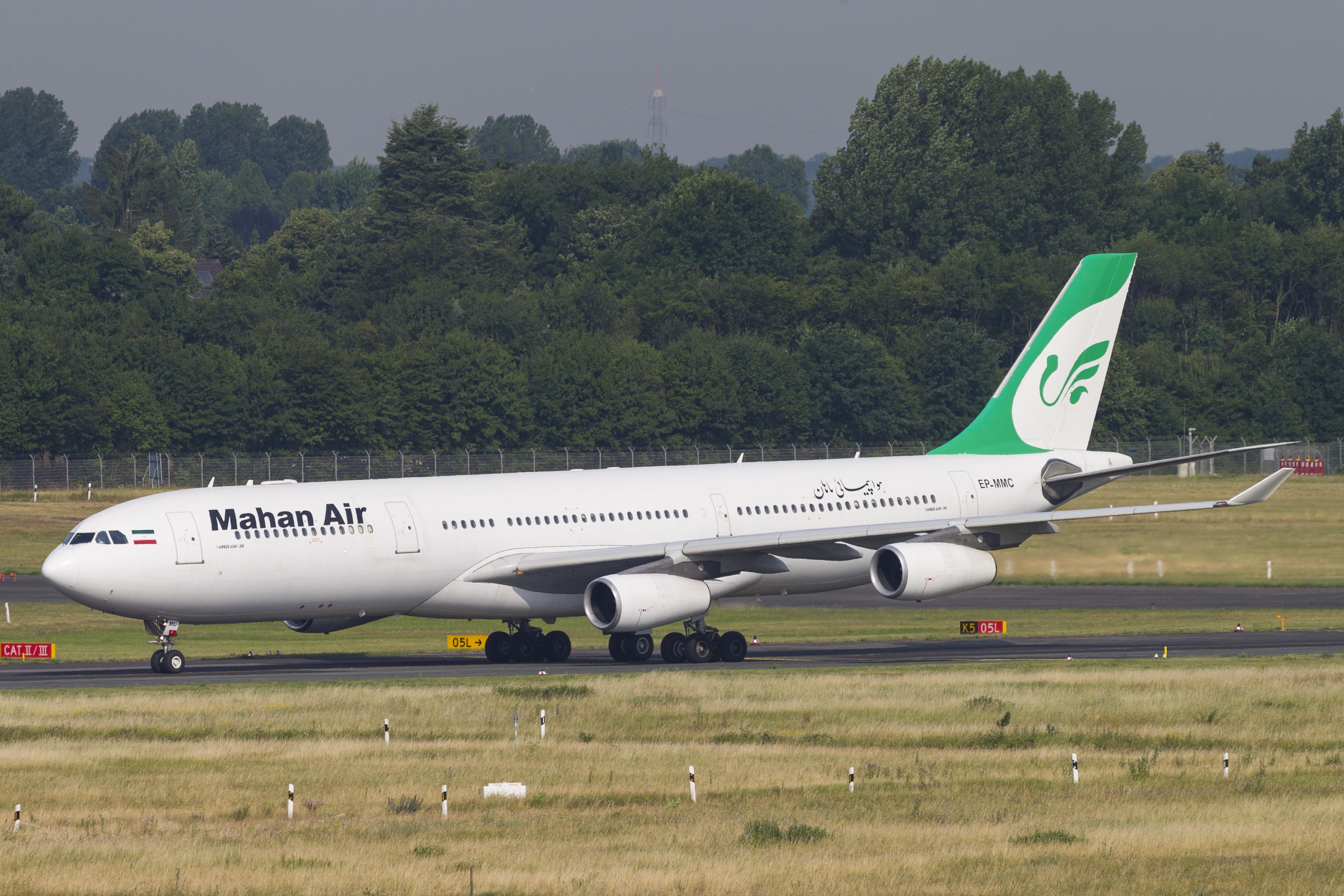 En Airbus A340-300 fra det iranske flyselskab Mahan Air. Foto: © Thorbjørn Brunander Sund, Danish Aviation Photo