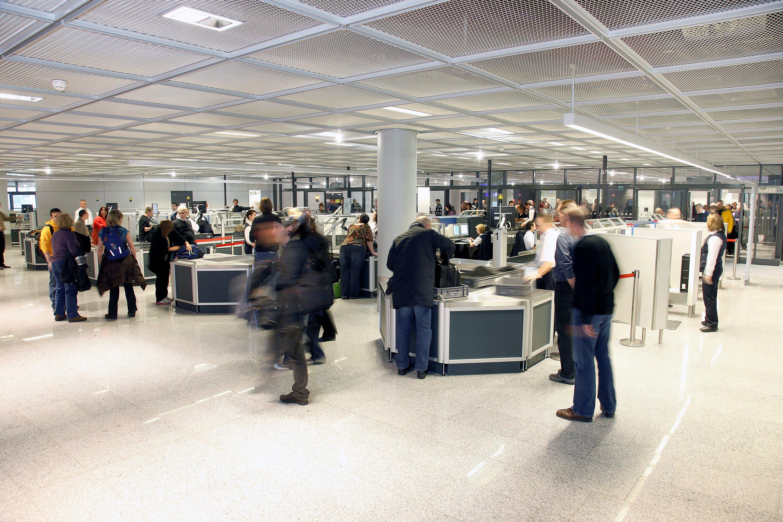 Sikkkerhedskontrol i Frankfurt Airport (Foto: Lufthansa/PR)