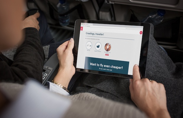 WiFi ombord hos Norwegian. Foto: Norwegian