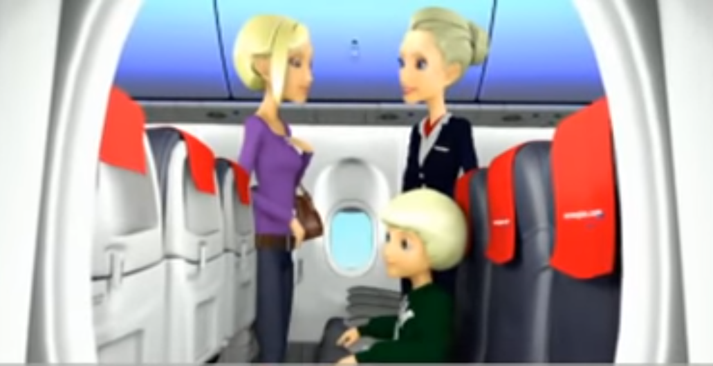 Norwegian Boeing 737-800 safety video.