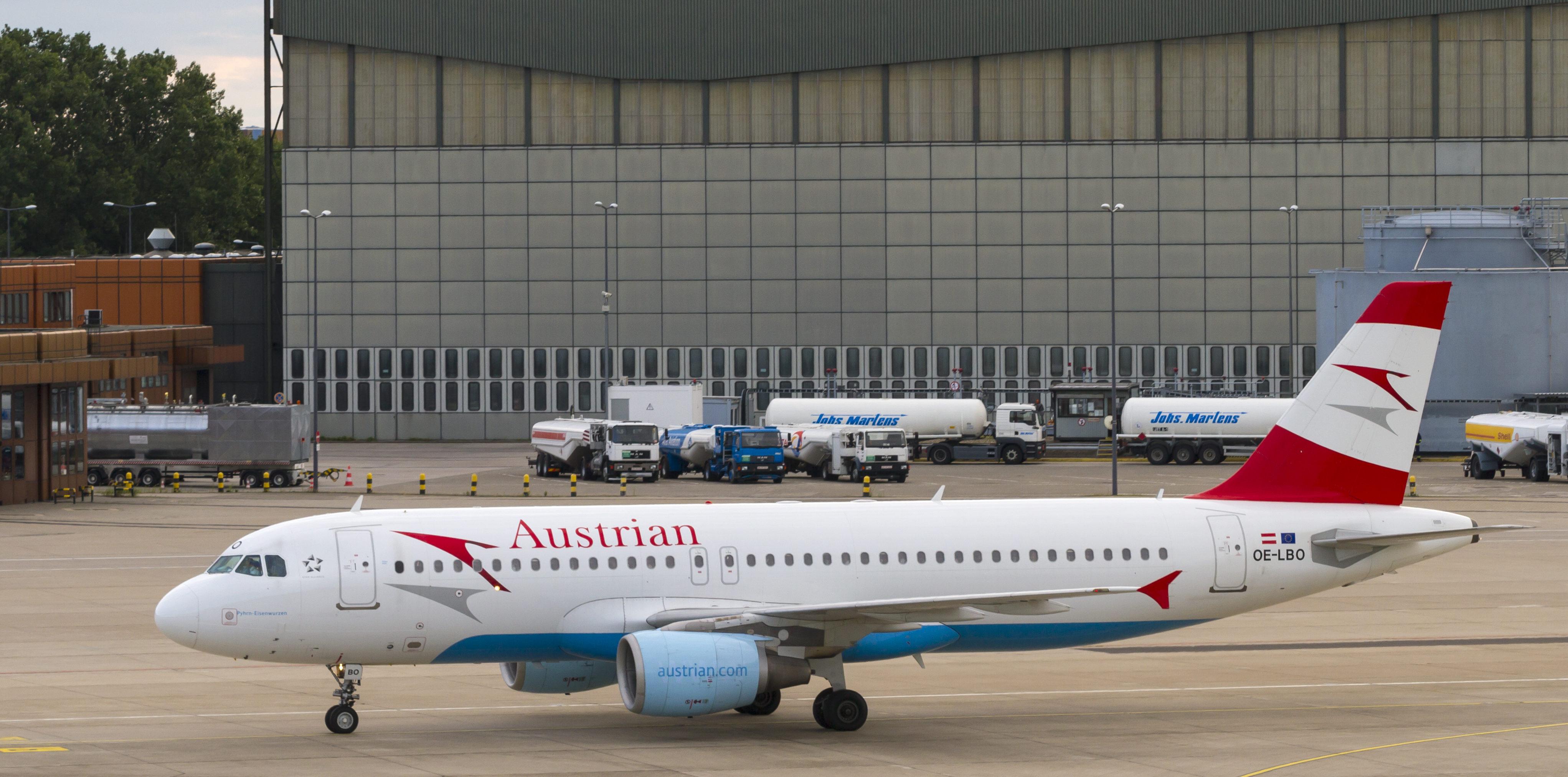 En Airbus A320-200 fra Austrian Airlines. Foto: © Thorbjørn Brunander Sund, Danish Aviation Photo