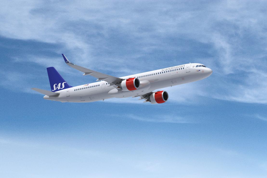 SAS Airbus A321LR (Foto: SAS AB)