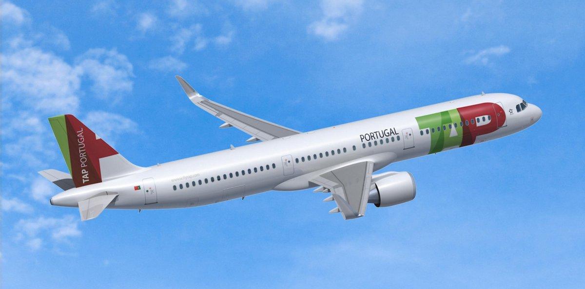 Illustration af den nye Airbus A321LR til TAP Air Portugal. Foto: Airbus