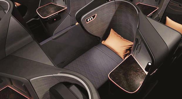 De nye business class-sæder hos Turkish Airlines. (Foto: Turkish Airlines)