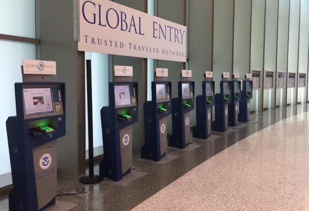 Global Entry-kiosker i amerikansk lufthavn. (Foto: CBP)