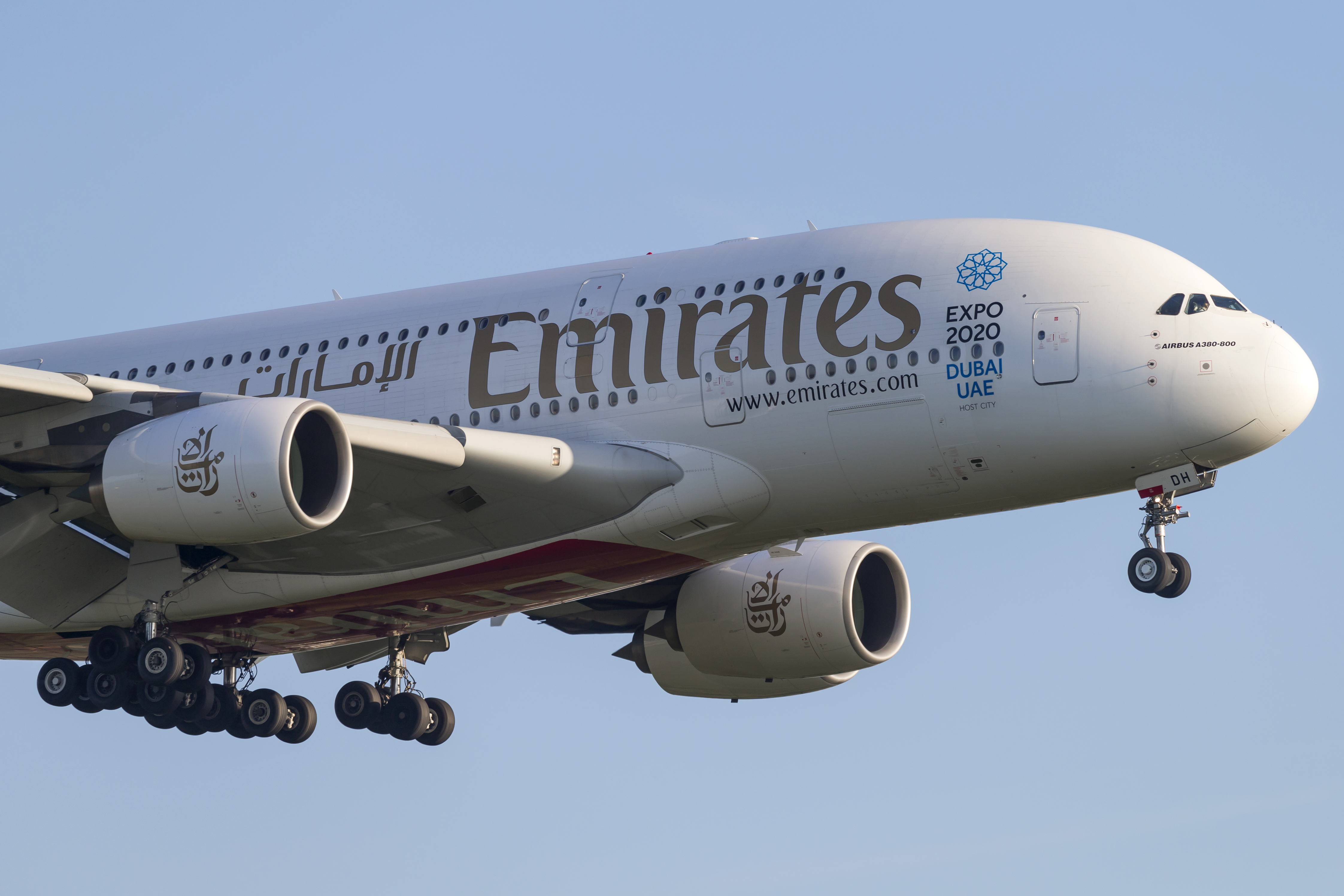 En Airbus A380 fra Emirates, der er Airbus' klart største superjumbo-kunde. Foto: © Thorbjørn Brunander Sund, Danish Aviation Photo