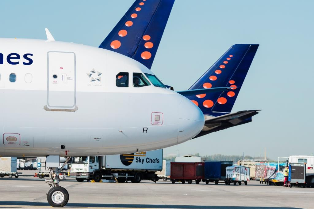 A320-fly fra Brussels Airlines i Brussels Airport. (Foto: Brussels Airlines/PR)