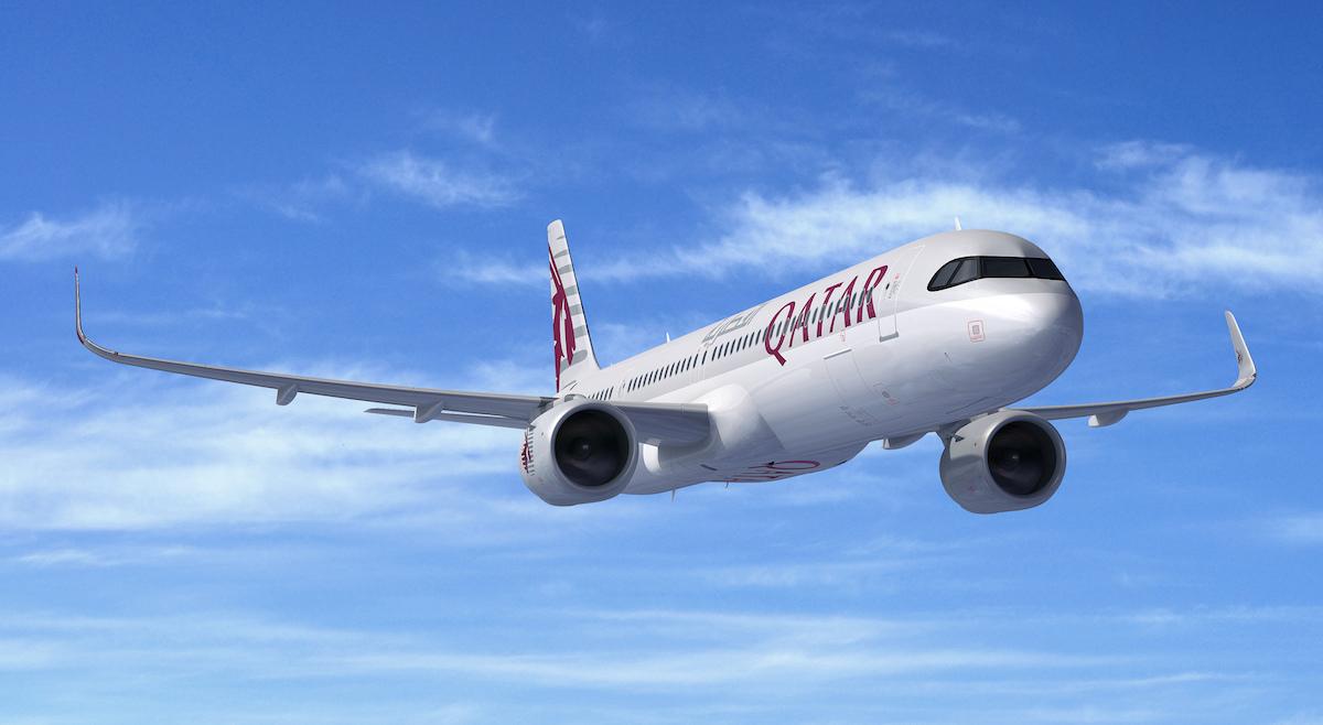 Qatar Airways har konverteret 10 fly til A321LR fra eksisterende ordre. Illustration: Airbus
