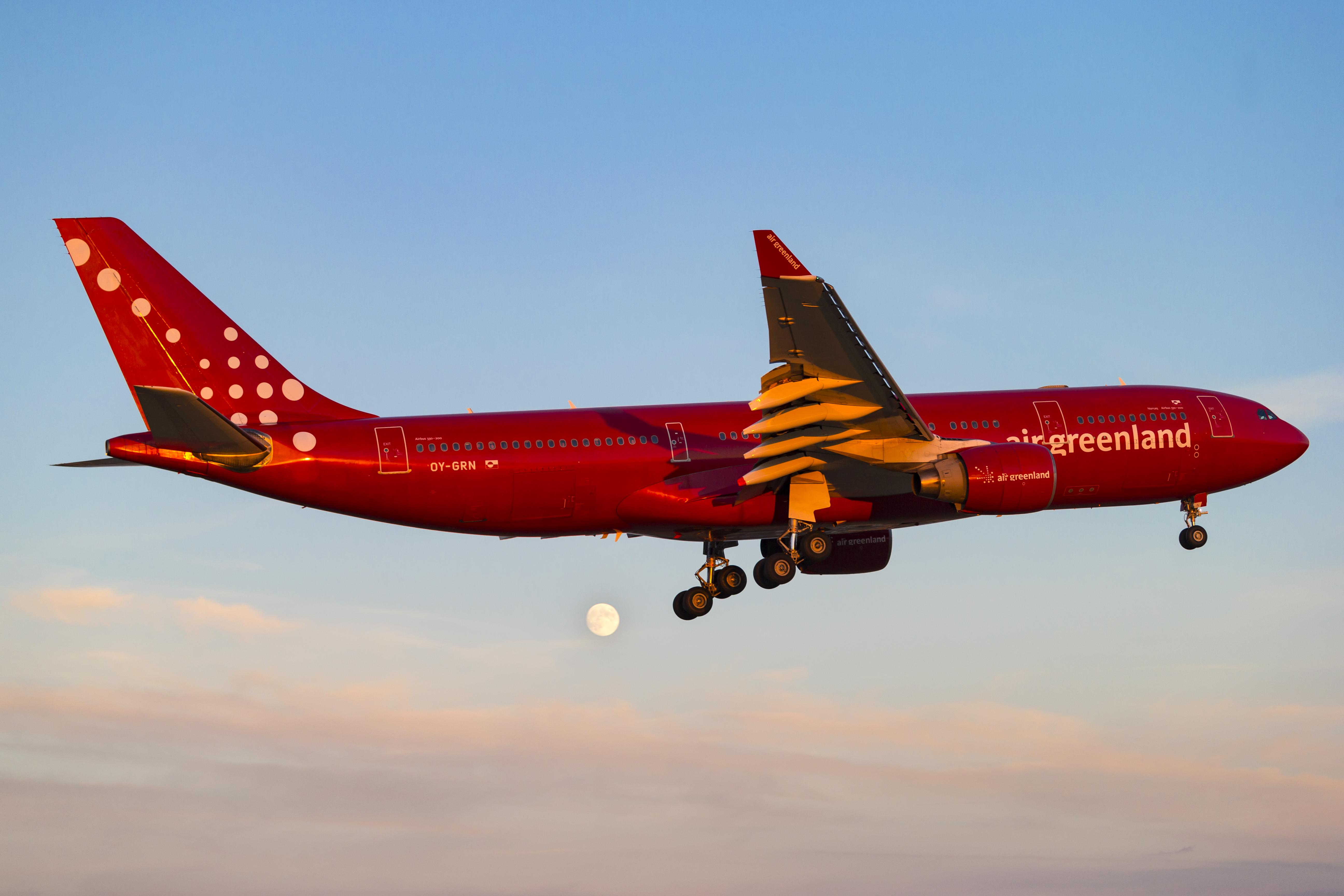 En Airbus A330-200 fra Air Greenland. Foto: © Thorbjørn Brunander Sund, Danish Aviation Photo