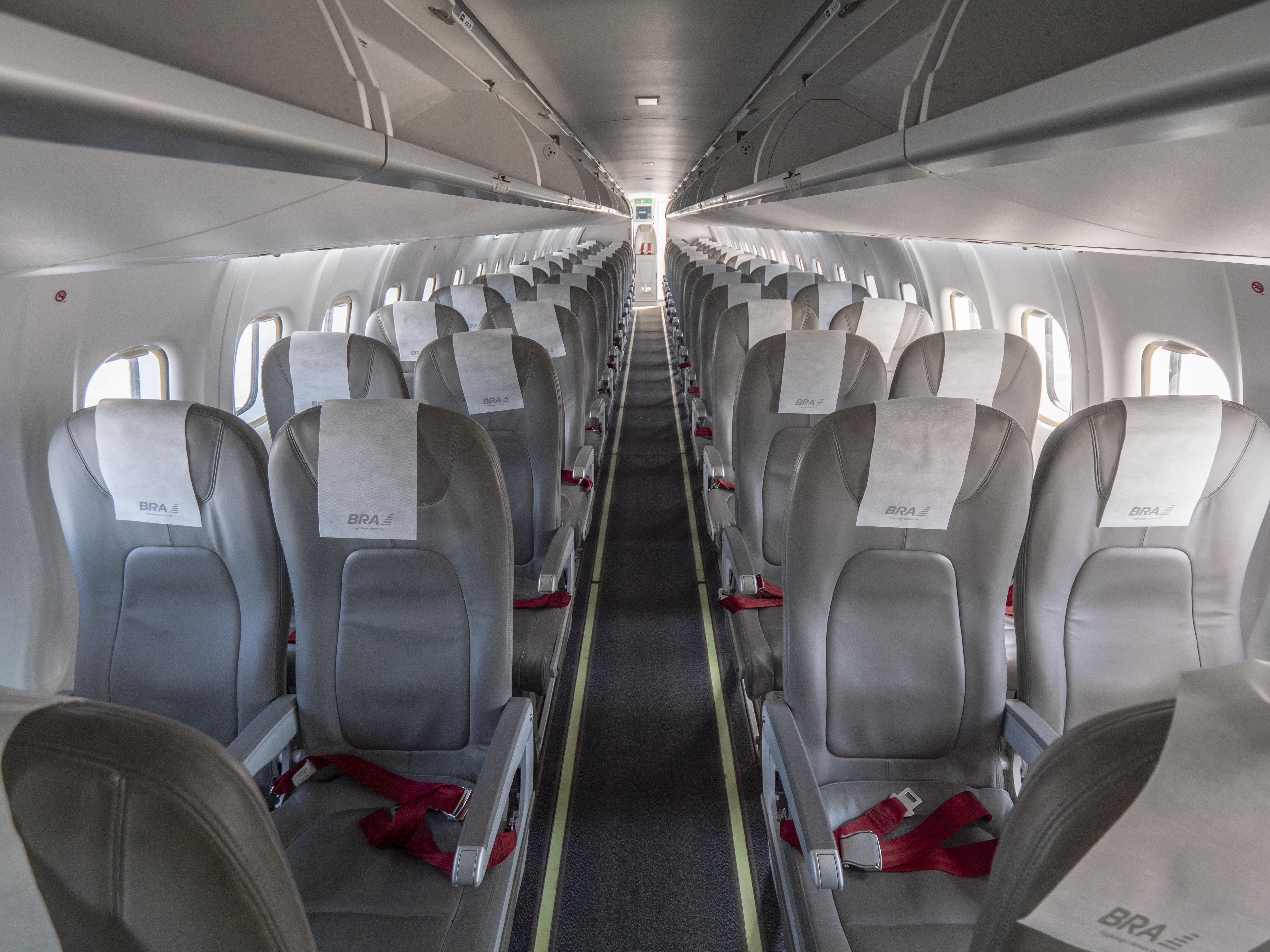 Det svenske flyselskab BRA har lanceret BRA Miljö Class for at give passagererne mulighed for at skåne miljøet. Foto: BRA