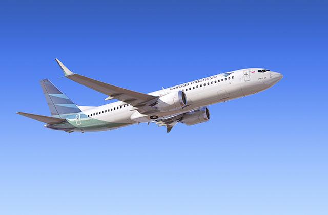 Garuda Indonesia overvejer at annullere sin ordre på Boeing 737 MAX 8. Foto: Boeing